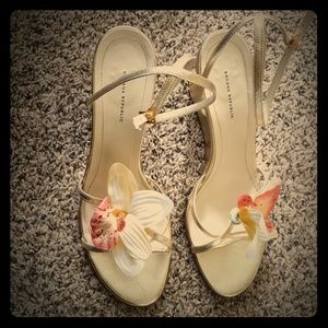 Banana Republic wedge flower sandals